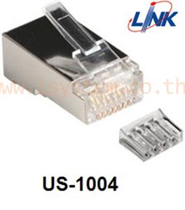 แพ็คหัวแลน (LAN) cat 6 us-1004 LINK SHIELD CAT 6 RJ45 PLUG 2 layer with pre-insert bar(10 ตัว/แพ็ค)