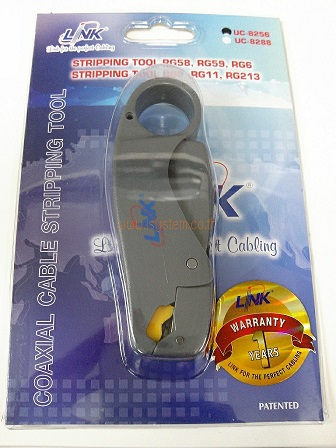 LINK UC-8256 STRIPPING TOOL RG599, RG6 for BNC F-Type Compression Connector(คีมปอกสาย)