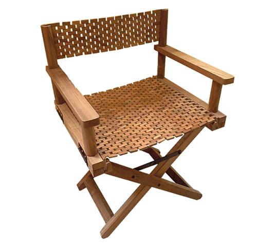 เก้าอี้ไม้สัก พับได้ มีพนักพิง รุ่น T-Rek