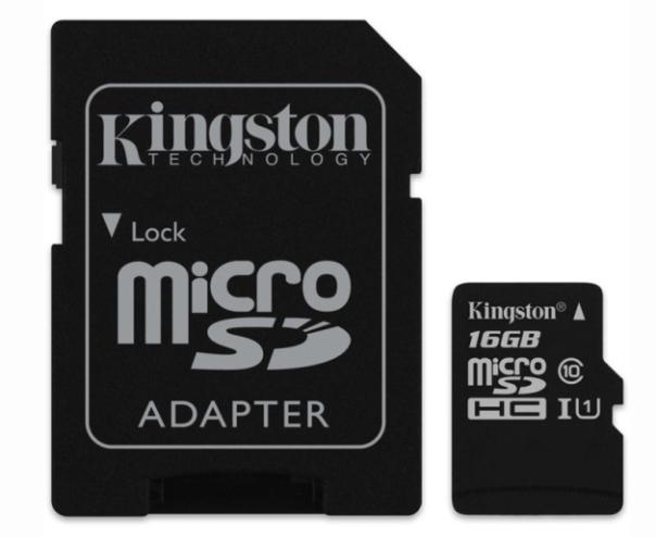 Kingston MicroSD 16GB Class 10 80MB/S พร้อม SD adaptor