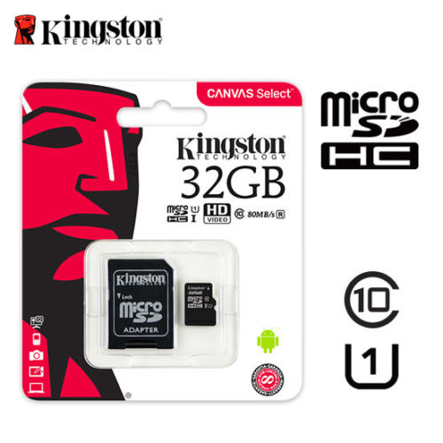 Kingston MicroSD 32GB Class 10 80MB/S พร้อม SD adaptor
