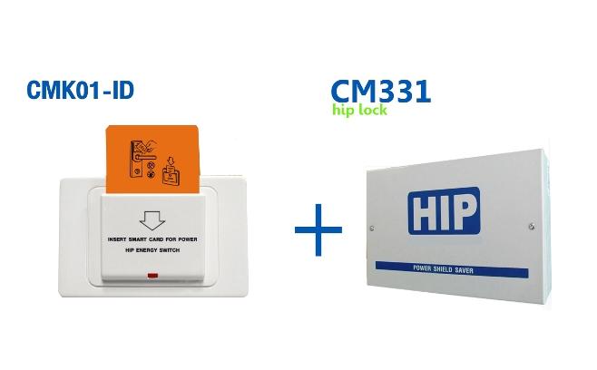 HIP CMK01-ID+CM331 ชุดตัวรับการ์ดแบบ Proximity+ระบบควบคุมไฟในห้องพัก