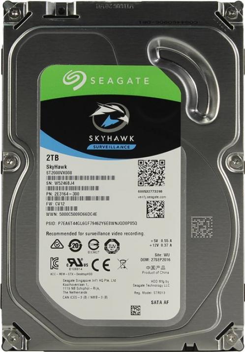 Harddisk สำหรับกล้องวงจรปิด Seagate SkyHawk 2TB