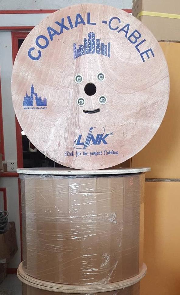 สาย RG6 LINK สำหรับงาน CCTV รุ่น  CB-0106APWA ชิลล์ 95 ม้วน 500 เมตร พร้อมสายไฟ