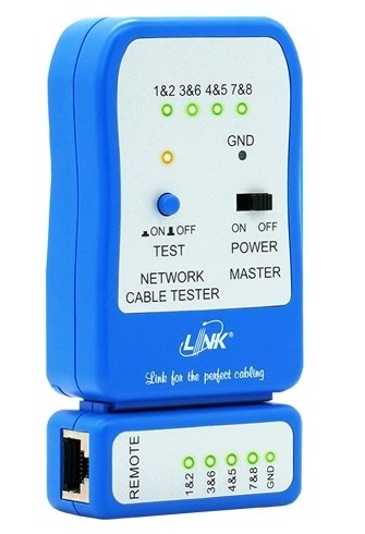 เครื่องทดสอบสาย Lan Link รุ่น TX-1302 (เดิม US-8010) Enhanced UTP Cable Tester