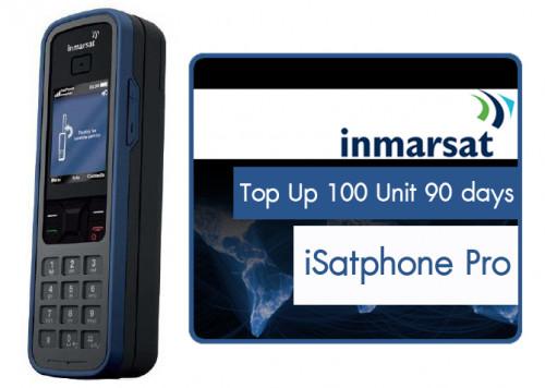 เติมเงินโทรศัพท์ดาวเทียม iSatPhone Pro 100 ยูนิต 90 วัน