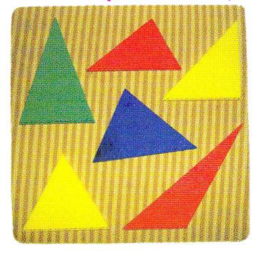 จิ๊กซอว์ สามเหลี่ยมรวมแบบ ลายไม้
