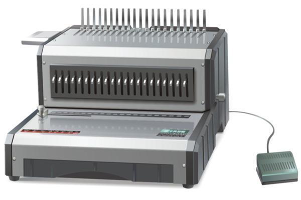 เครื่องเข้าเล่มสันห่วงพลาสติกระบบไฟฟ้าPROPUNCH  D160