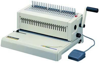 เครื่องเจาะกระดาษไฟฟ้าและเข้าเล่มแบบมือโยก   KONSTANZ(24 รูเจาะ)