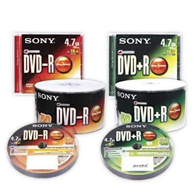 แผ่นดีวีดี DVD-R 4.7Gb 16X (แพ็ค 50แผ่น) Sony ของแท้