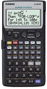 เครื่องคิดเลข CASIO FX 5800P