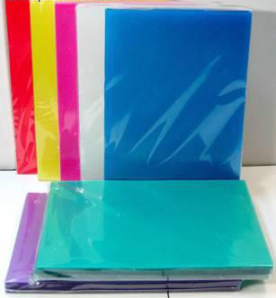 ปกพลาสติกสี A4 200 ไมครอน ทุกสี