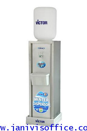 ตู้ทำน้ำเย็นVICTOR ตั้งพื้น สแตนเลส 1ก๊อก (แบบกดน้ำไหล) VT-699