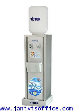 ตู้ทำน้ำเย็นVICTOR ตั้งพื้น สแตนเลส 2ก๊อก (แบบน้ำกดไหล)VT-99N