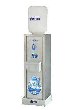 ตู้ทำน้ำเย็นVICTOR ตั้งพื้น สแตนเลส 1ก๊อก  (แก้วดัน)VT-691
