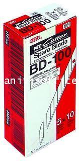 ใบมีดคัตเตอร์เฉียง NT BD-100 1*50ใบ