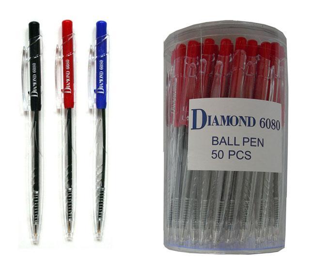 ปากกาลูกลื่น DIAMOND no.6080 (0.7มม.)