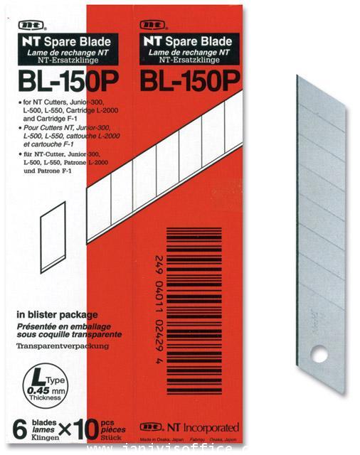 ใบมีดคัตเตอร์ NT BL-150P 1*60 ใบ