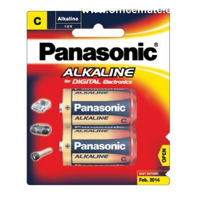ถ่านอัลคาไลน์ พานาโซนิค LR14T/2B C 2 ก้อน