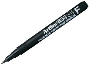 ปากกาเขียนแผ่นใสลบไม่ได้ Artline EK-853 F-0.5mm.(ดำ)