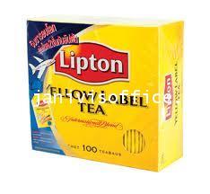 ชาลิปตัน ฉลากเหลือง 100 ซองต่อกล่อง