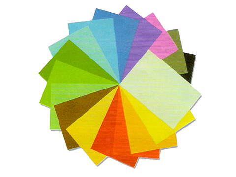 กระดาษโปสเตอร์สีสองหน้าบาง(80แกรม)แพ็คละ100แผ่น