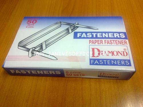ลิ้นแฟ้มเหล็กสีเงิน ไดมอนท์  (Diamond paper fasteners)