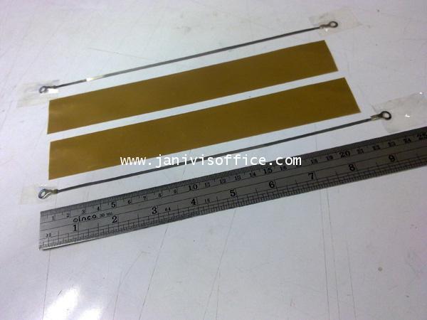 ลวดฮีทเตอร์+ผ้าทนความร้อนสำหรับเครื่องซีลพลาสติกมือกด8นิ้ว (ราคา/ชุด)