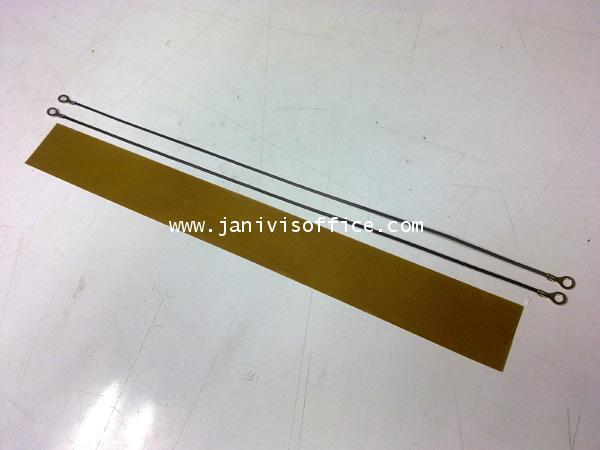 ลวดฮีทเตอร์+ผ้าทนความร้อนสำหรับเครื่องซีลพลาสติกมือกด12นิ้ว (ราคา/ชุด)