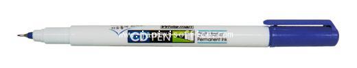 ปากกาเขียนซีดีหัวเข็ม Whiteman : CDP-002สีน้ำเงิน