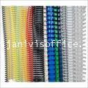 สันเกลียวพลาสติก PVC coilbinding ขนาด 6 มม.สีม่วง(100อัน/กล่อง)