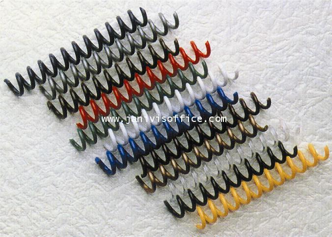 สันเกลียวพลาสติก PVC coilbinding ขนาด 6 มม.สีส้ม(100อัน/กล่อง)