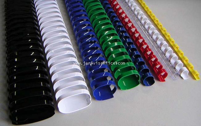 สันห่วงพลาสติก (Ring Binder) สำหรับเครื่องเข้าเล่มสันห่วงทุกยี่ห้อ ขนาด 9.5 มม.100อัน/กล่อง