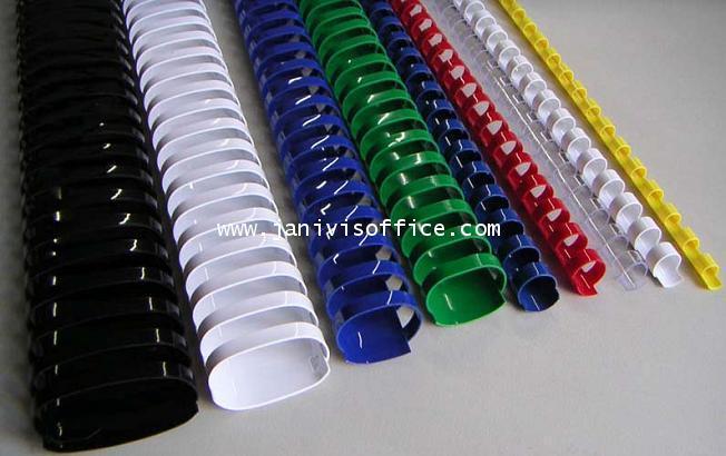 สันห่วงพลาสติก (Ring Binder) สำหรับเครื่องเข้าเล่มสันห่วงทุกยี่ห้อ ขนาด 15.5 มม.100อัน/กล่อง