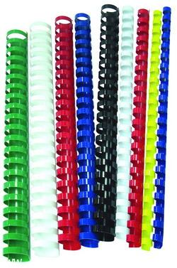 สันห่วงพลาสติก (Ring Binder) สำหรับเครื่องเข้าเล่มสันห่วงทุกยี่ห้อ ขนาด 11 มม.100อัน/กล่อง
