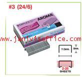 ลวดเย็บกระดาษอโรม่า AROMA Staples เบอร์ 24/6(3)