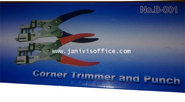ที่ตัดมุมบัตร 2in1 ,R5 มุมเล็ก 5มม. (corner Trimmer and Punch)ด้ามแดง รูเรียว