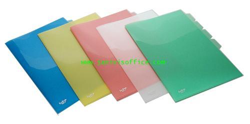 แฟ้มซอง 3ชั้น F4 652F (A20) /คละทุกสี (ไม่มีสติกเกอร์)