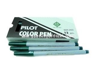 ปากกาเมจิก PILOT SDR-200 สีเขียว(12 แท่ง/1กล่อง)