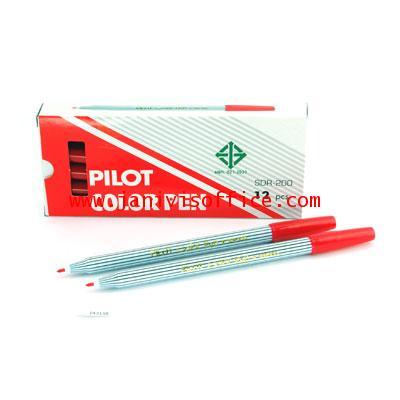 ปากกาเมจิก PILOT SDR-200 สีแดง(12 แท่ง/1กล่อง)