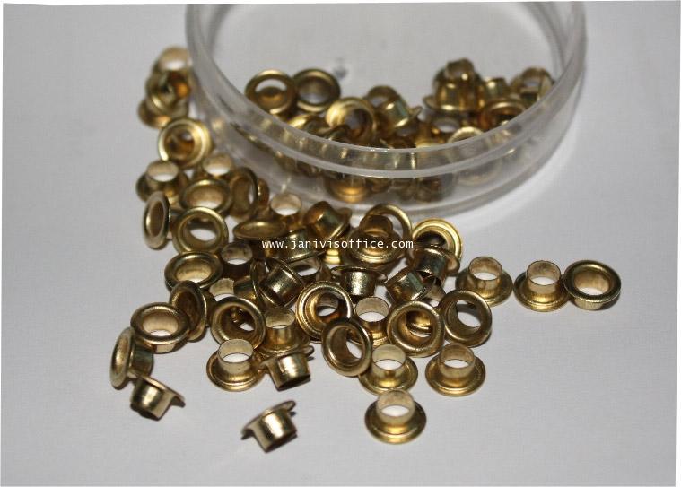 ตาไก่ทองเหลือง 4 mm.ทองเหลือง (กล่อง 10,000 ตัว)