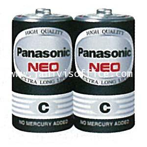 ถ่านไฟฉาย พานาโซนิค NEO R14NT/2SL  ไซด์กลางสีดำ (C) ราคา/2ก้อน