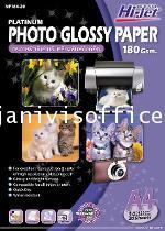 กระดาษอิงค์เจ็ท Hi-jet NP184-20 A4 180Gsm.กระดาษโฟโตกลอสซี เนื้้้อกระดาษมันเงา