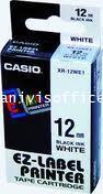 เทปพิมพ์อักษรCASIO XR-12WE1 ใช้กับเครื่องพิมพ์ฉลาก CASIO KL-820