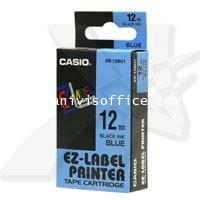 เทปพิมพ์อักษรCASIO XR-12BU1 ใช้กับเครื่องพิมพ์ฉลาก CASIO KL-820