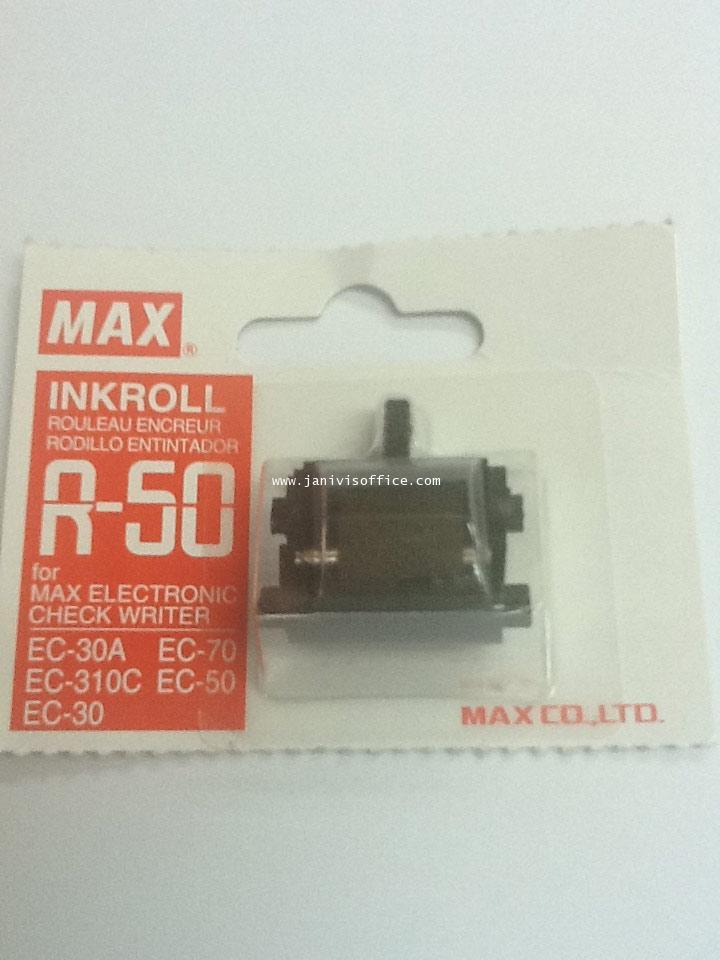 ผ้าหมึกเครื่องพิมพ์เช็ค MAX R-50 แดงfor MAX eletronic check writer EC-50,70,30