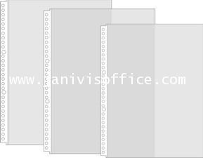 ไส้แฟ้ม 30 รู A4 COMIX EH302A (แพ็ค20ซอง) แถบขาว