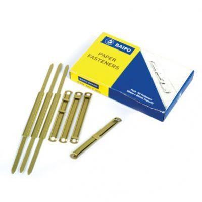 ลิ้นแฟ้มเหล็กสีทอง BP 850 (50ชุด/กล่อง)