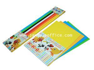 Kokoru Ichi (กระดาษลูกฟูกสีแบบเส้น) แฟ็คละ8สี สีละ7 เส้น รวม 56 เส้น