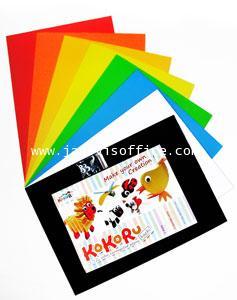 Kokoru Hachi (กระดาษลูกฟูกสีแบบ A4) แฟ็คละ8สี 8 แผ่น